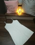 Biała skórzana sukienka Missguided mini nowa XS S...