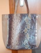 torebka shopper bag skóra wężowa...