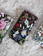 portfel kwiaty floral zamek nowy modny pojemny