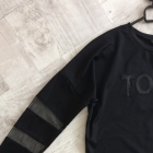 Bluza czarna z siateczką rozmiar M CROPP
