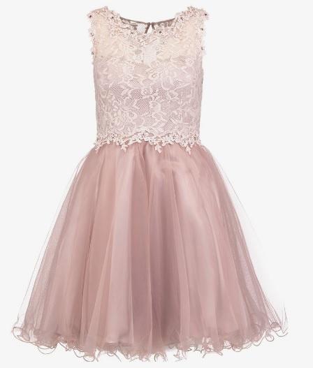 Sukienka koktajlowa Laona rozmiar M pudrowa