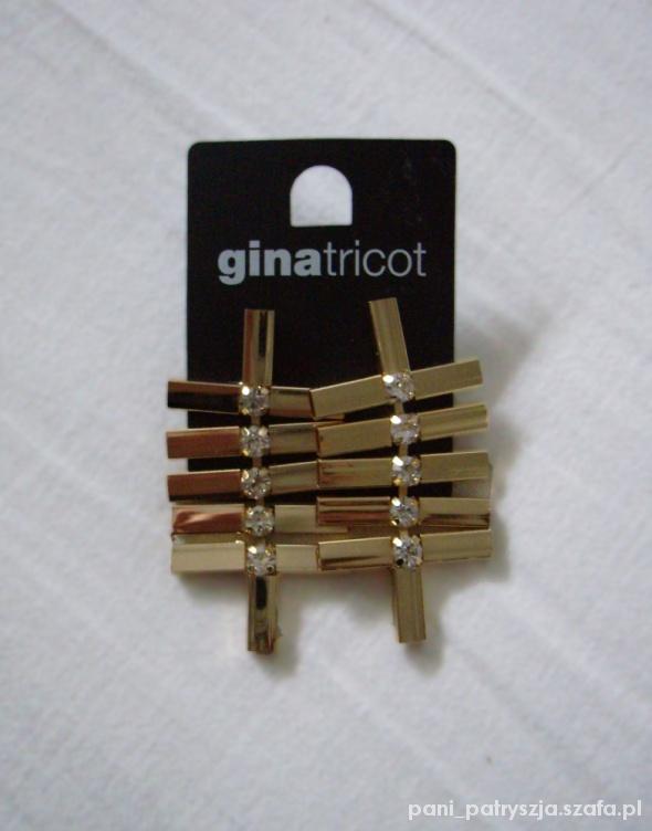 Kolczyki złote kryształki Gina Tricot...