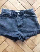Marmurkowe jeansowe szorty wysoki stan MANGO