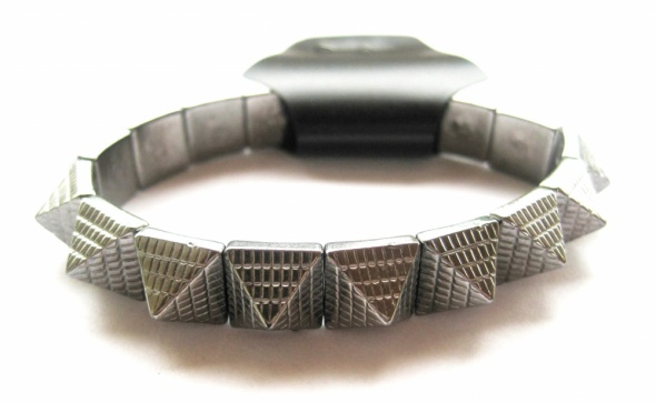 Bransoletki bransoletka srebrna kolce kwadraty trójkąty