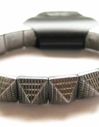 bransoletka srebrna kolce kwadraty trójkąty