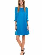 sukienka niebieska turkusowa simple...