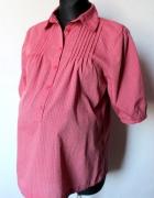 Różowa koszula w kratę idealna na ciążę r M
