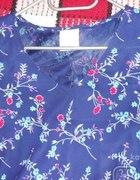 sukienka granatowa w kwiatki 44 16