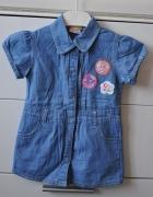 Jeansowa sukienka z Troskliwymi Misiami...