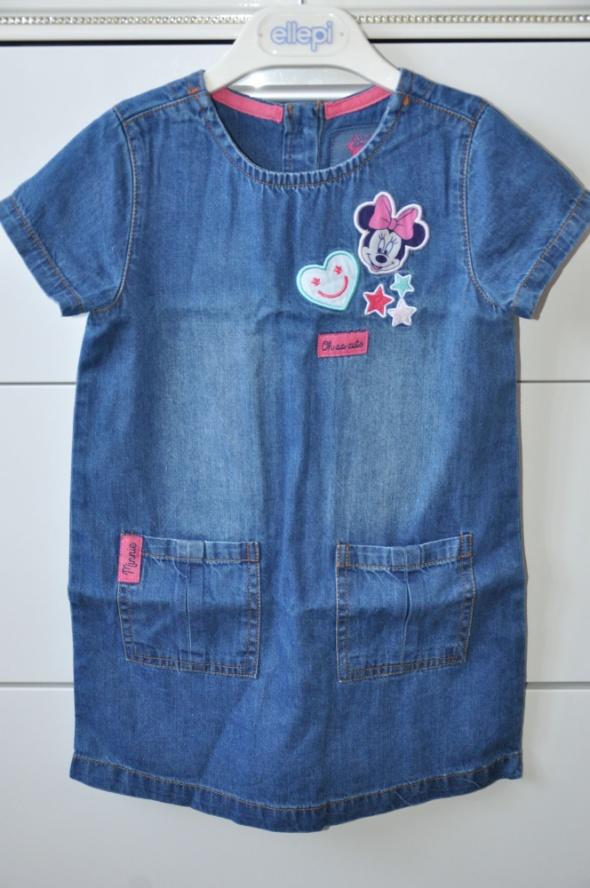 Śliczna jeansowa sukienka z Minnie...
