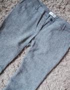 SZARY MELANŻ eleganckie spodnie