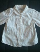 Biała koszula z kołnierzykiem dziecięca 110cm