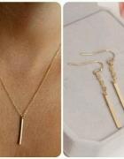 Komplet biżuterii celebrytka subtelny Częstochowa kolor złoty