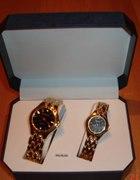 Para nowych zlotych zegarków dla niej i dla niego