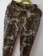 Letnie spodnie lekkie przewiewne motyw zwierzęcy