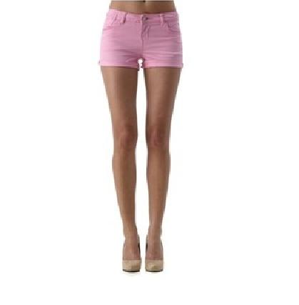 różowe spodenki jeansowe gina tricot spodnie hm...