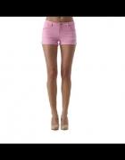 różowe spodenki jeansowe gina tricot spodnie hm