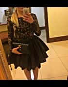 LOU sukienka Alessia 36 34 koronkowa siateczka rozkloszowana wycięcie na plecach