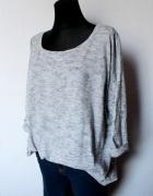 Szary sweter melanż r S