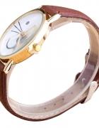 brazowy zegarek z kotem nowy...
