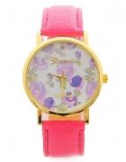 nowy zegarek w kwiaty...