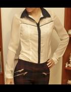 Koszula Stradivarius r S biała mgiełka
