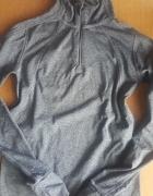 Termoaktywna bluza do biegania szara...