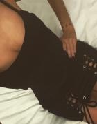 Sukienka czarna sznurowana s nowa