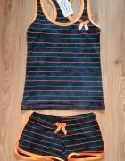 Nowa letnia piżama komplet spodenki i bokserka koszulka