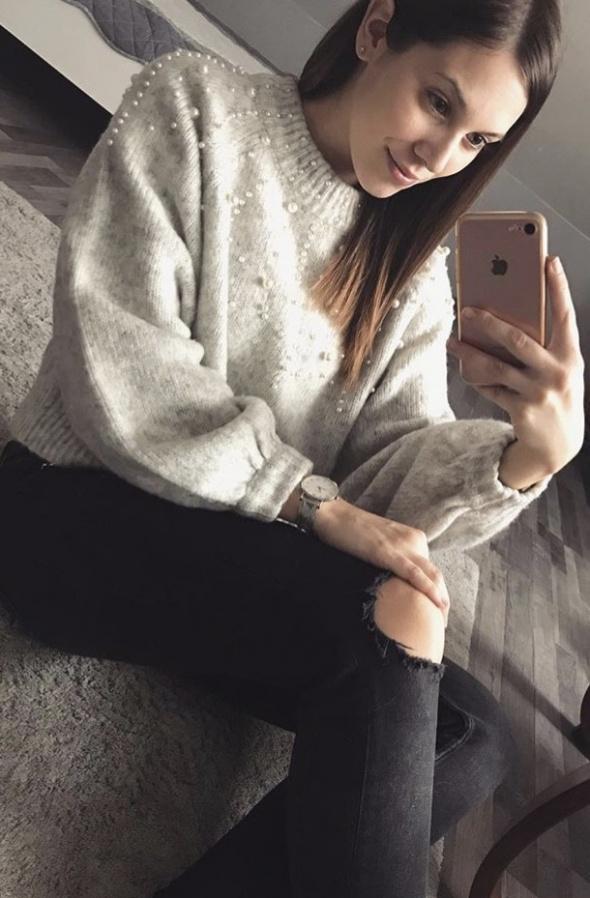 Codzienne Sweterek z perełkami w roli głównej
