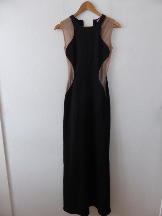a5708ca3b2 Długa elegancka wyszczuplająca sukienka wieczoro w Suknie i sukienki ...