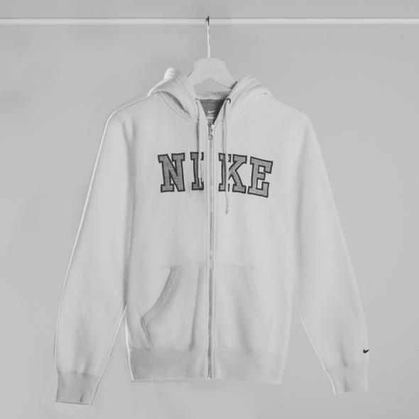 Biała bluza NIKE z kieszeniami i kapturem rozmiar S...