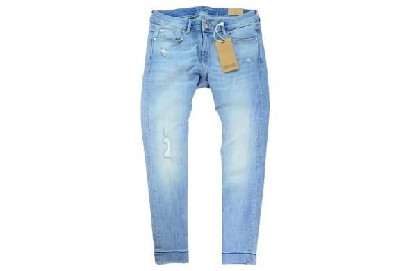 Spodnie jeans przetarcia Zara Basic rozm M