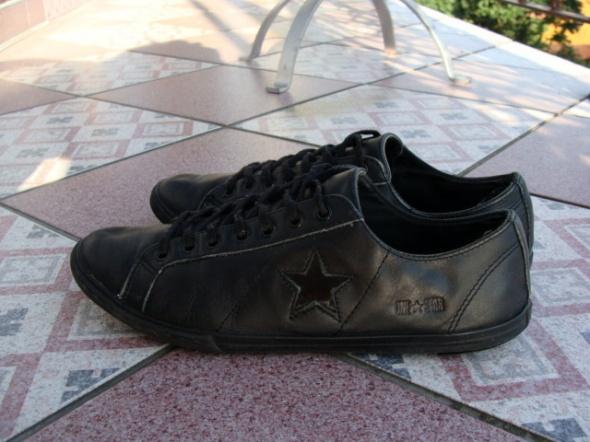 Tanie skorzane skora naturalna Converse czarne star 41 w