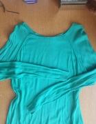 Zielona bluzka sweterek warehouse zamek zip...