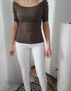 CoolCat modna hiszpanka khaki prążkowana XS S