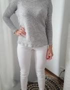 Cubus Szary luźny modny wiosenny sweter M L