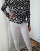 Sweter bluzka H&M aztec S M L uni