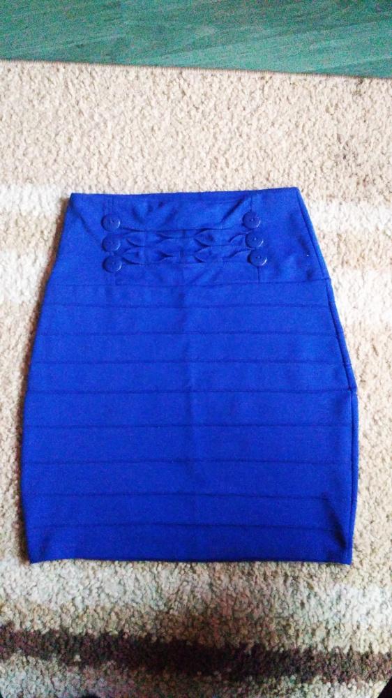 Spódnice Granatowa dopasowana spódniczka rozm M