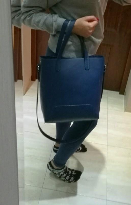 36976a46a8fc3 granatowa torebka top secret typu shopper w Torebki na co dzień ...