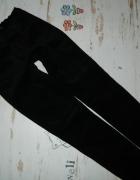 CUBUS czarne spodnie rurki sztruksy roz 36...