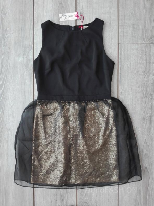 new look kelly czarna sukienka cekiny złota 40 hit...