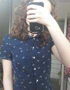 Granatowa koszula z krótkim rękawem