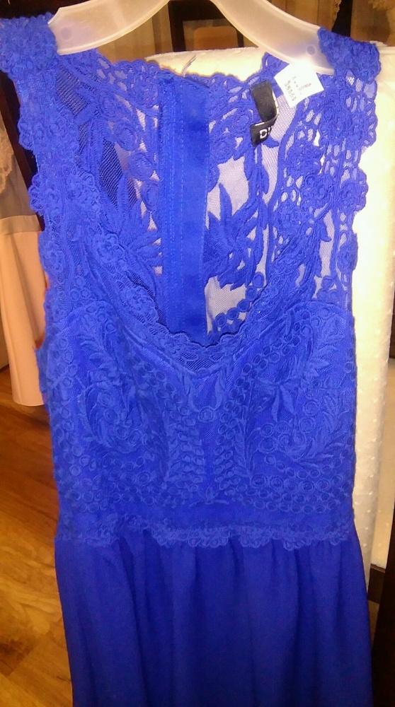 70b9967c43 chabrowa sukienka HM w Suknie i sukienki - Szafa.pl