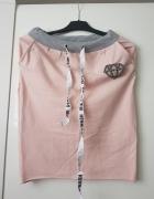 Różowa spódnica z rozporkiem L XL