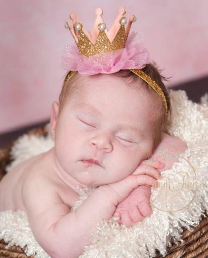 Ozdoby na włosy Opaska do włosów korona dziecko urodziny srebrna