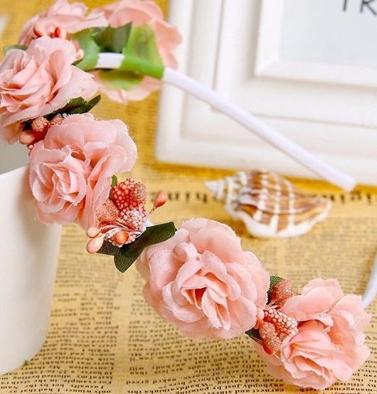Ozdoby na włosy Opaska do włosów ślub komunia kwiatki