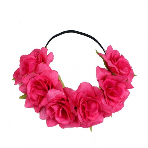 Ozdoby na włosy Opaska do włosów ślub komunia kwiat 2 kolory