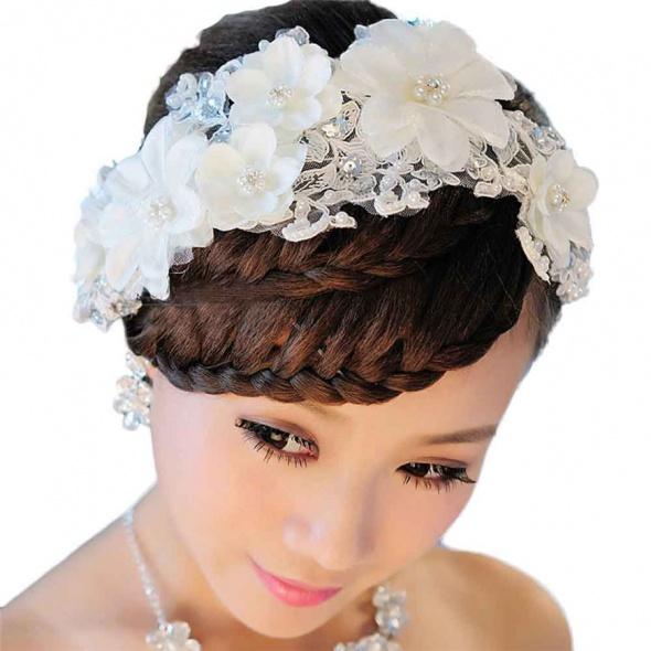 Ozdoby na włosy Tiara komunijny kwiaty jak żywe piekne