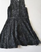 Sukienka rozkloszowana marmurkowa h&m roz s